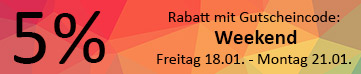 Weekend 5% Rabatt 18.01. bis 20.01.