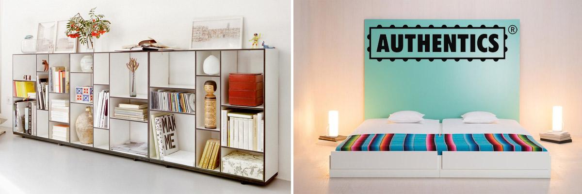 Designer Stapelbetten und Regale von Authentics
