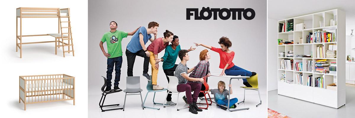 Designermöbel von Flötotto: moderne Regalsysteme, Stühle und Betten