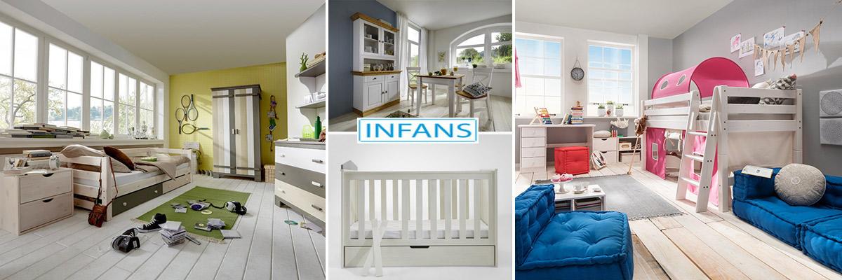 Kinderzimmermöbel aus massiver Kiefer mit tollem Zubehör, sowie Dielenmöbel, Wohn-und Esszimmermöbel von Infans Kids