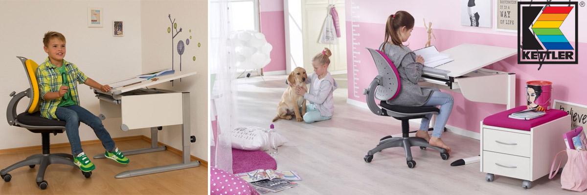 Höhenverstellbare Kinderschreibtische & Schreibtischstühle von Kettler
