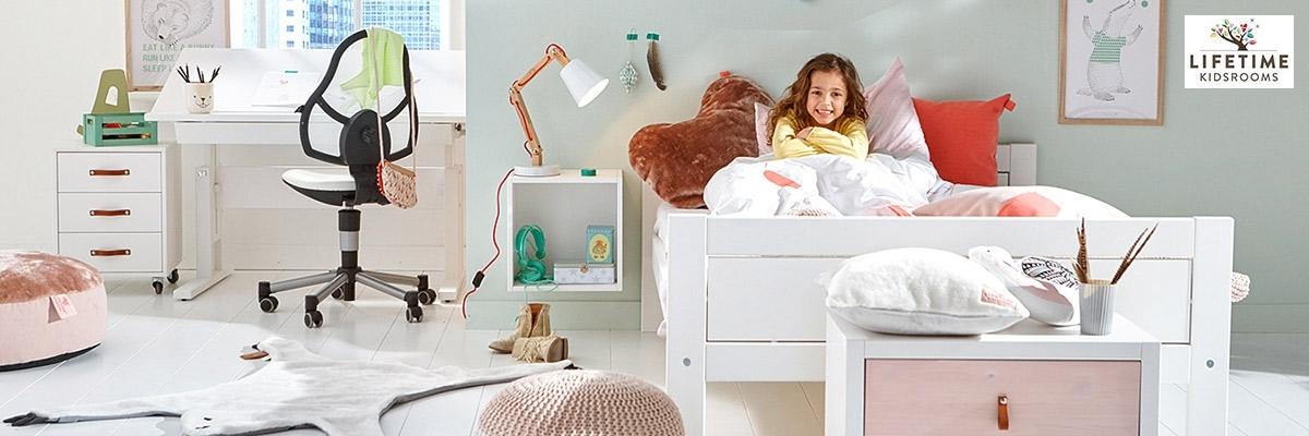 Massive Kinder- und Jugendmöbel in weiß, whitewash oder grey im skandinavischen Design von Lifetime