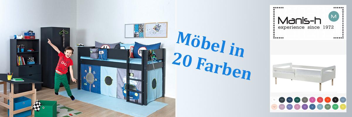 Kinderzimmermöbel in vielen tollen Farben aus Dänemark von Manis-h