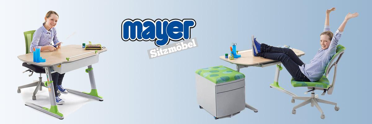 Drehstühle, Pendelhocker und Schreibtische für Kinder, Jugendliche und Erwachsene von Mayer