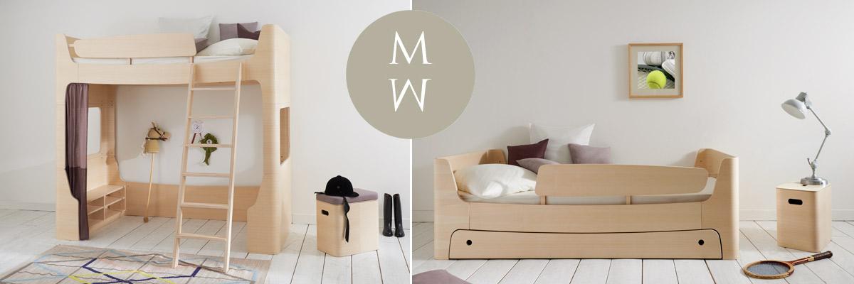 Mild & Wild - elegante Kinder- und Jugendmöbel aus Birkenschichtholz, mit Esche furniert