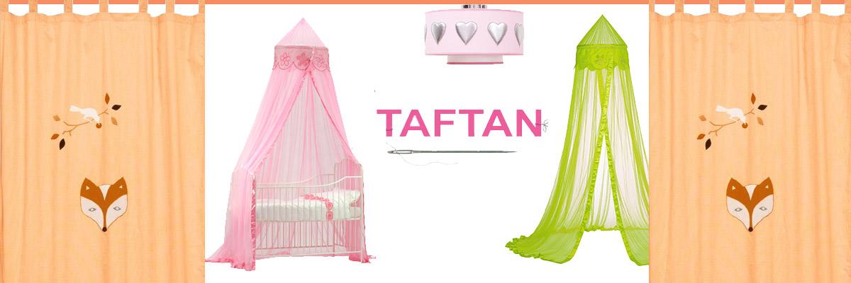Zauberhafte Betthimmel, Bettwäsche, Lampen und Vorhänge für Kinderzimmer von Taftan