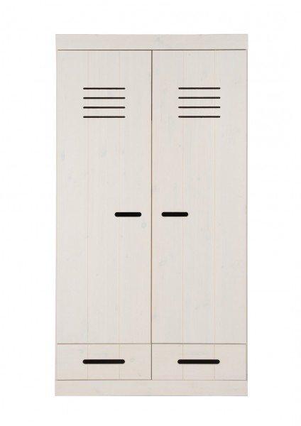 Infans Kleiderschrank 2-türig mit 2 Schubladen in weiß