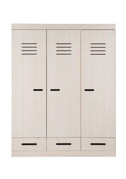 Infans Kleiderschrank 3-türig mit 3 Schubladen in weiß