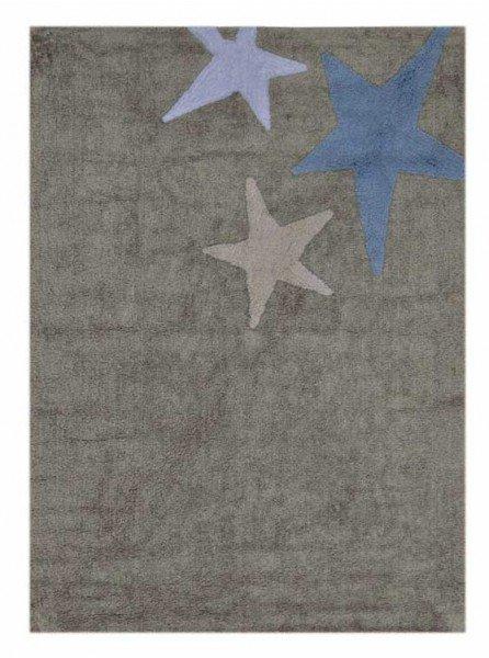 Lorena Tres Estrellas Gris-Azul (Teppich 3 Sterne, grau-blau)