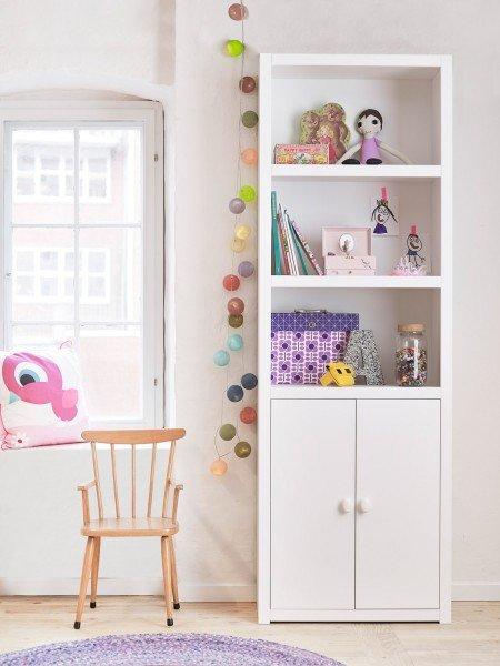 Lifetime Bücherregal mit 2 Türen und 3 Fächern