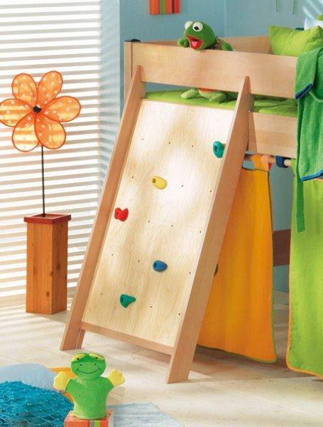 Paidi Kletterwand 125 cm/ Beispiel an Varietta Bett