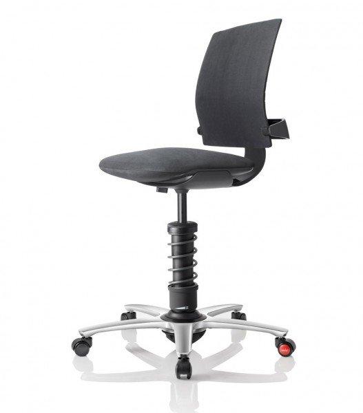 Aeris 3Dee mit Basis in Aluminium schwarz, poliertem Fußkreuz und Mikrofaserbezug Comfort by Gabriel in schwarz