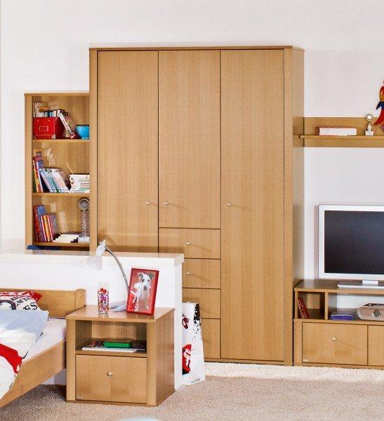 Paidi Varietta Kleiderschrank mit 3 Türen und 4 Schubladen