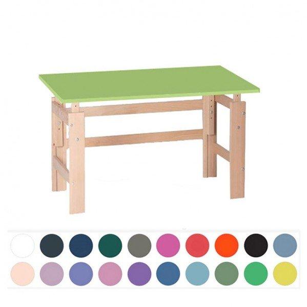 Manis-h Kinderschreibtisch mit farbiger Tischplatte