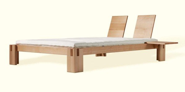 Dormiente Nuveo Massivholzbett aus Buche, metallfrei
