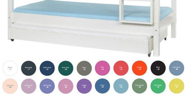 Manis-h Ausziehbett mit Lattenrost in diversen Farben