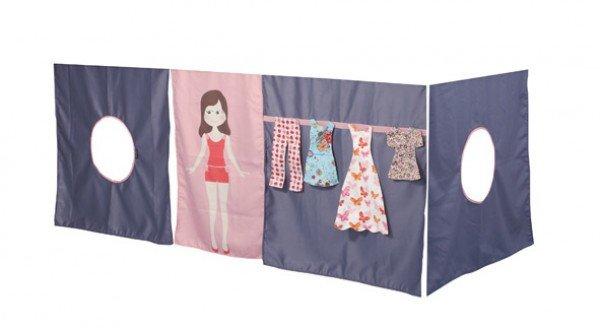 Manis-h Spielvorhang Puppe für Spielbett