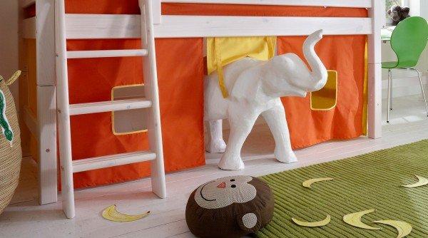 Spielvorhang orange/gelb (Diese Kombination müssten Sie bei uns erfragen)