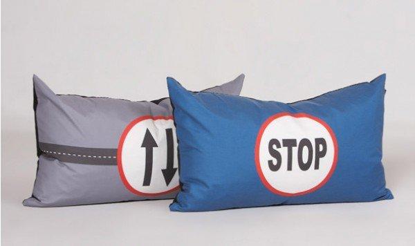 Manis-h Rückenkissen Traffic Sign