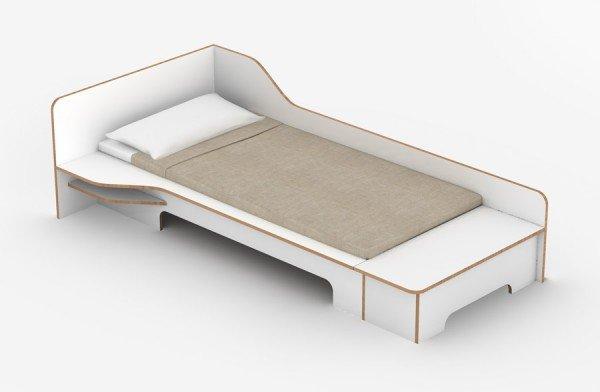 Müller Möbelwerkstätten Plane Bett mit Bettkasten, Variante links
