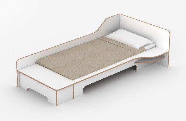 Müller Möbelwerkstätten Plane Bett mit Bettkasten, Variante rechts