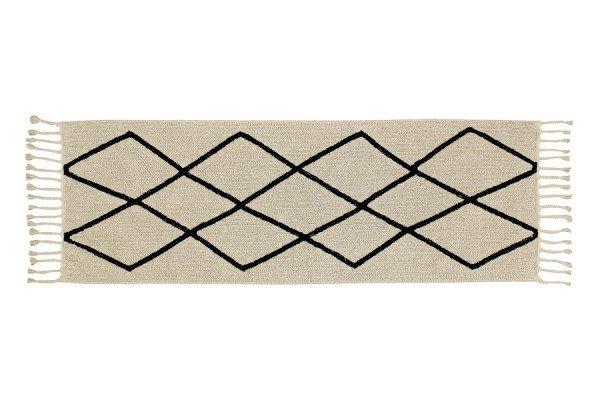 Lorena Black & White Bereber Crema als Läufer in 80x230 cm