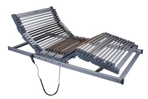Elektrischer Lattenrost Superior mit 42 Leisten und sehr flachem Motor sowie kabelgebundener Fernbedienung (Funkfernbedienung kann zusätzlich erworben werden)