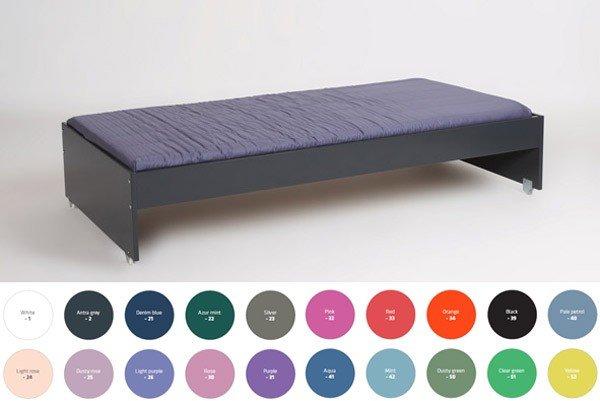 Manis-h Ausziehbett hoch, mit Lattenrost in diversen Farben