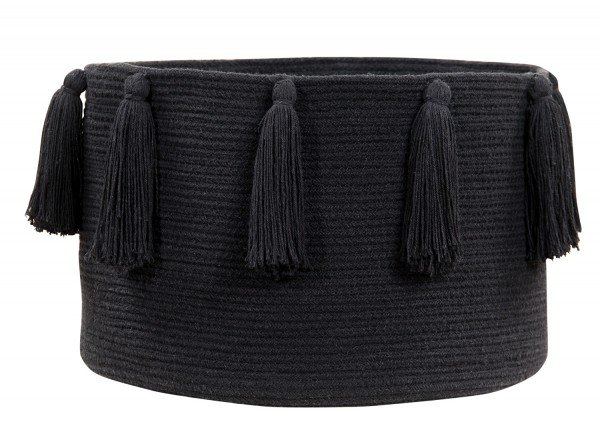 Lorena Tassels Basket Black
