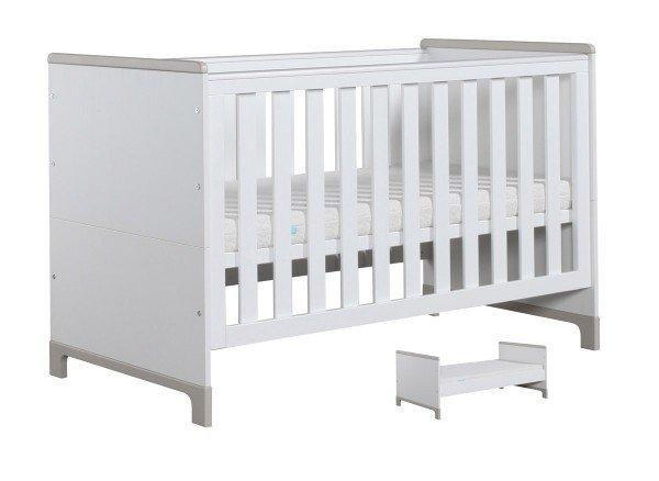 Nature Kid Mini Babybett/Juniorbett 70 x 140cm, weiß/grau
