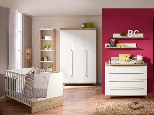Paidi Remo Babymöbel-Starter-Set bestehend aus Kommode und Babybett, hier mit schmaler Kommode