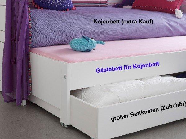 Lifetime Gästebett 7040 (Beispiel: hier unter unter einem Kojenbett und mit Bettkasten)