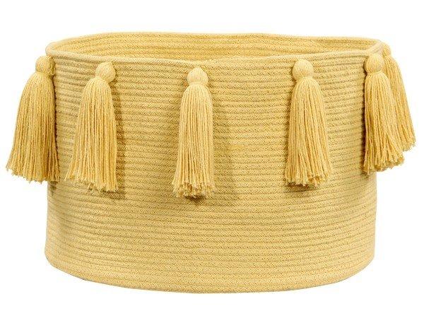 Lorena Tassels Basket yellow