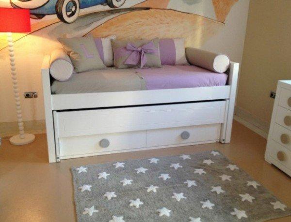 Lorena Estrellas Gris-Blanco (Teppich kleine Sterne, grau-weiß)