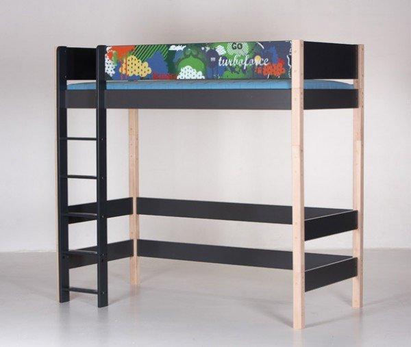 Manis-h Hochbett Gefion, hier sehen Sie das Hochbett Gefion mit einer Designerabsturzsicherung. Diese können Sie zusätzlich kaufen. Unser Angebot betrifft das Bett mit der Standardausführung!  .