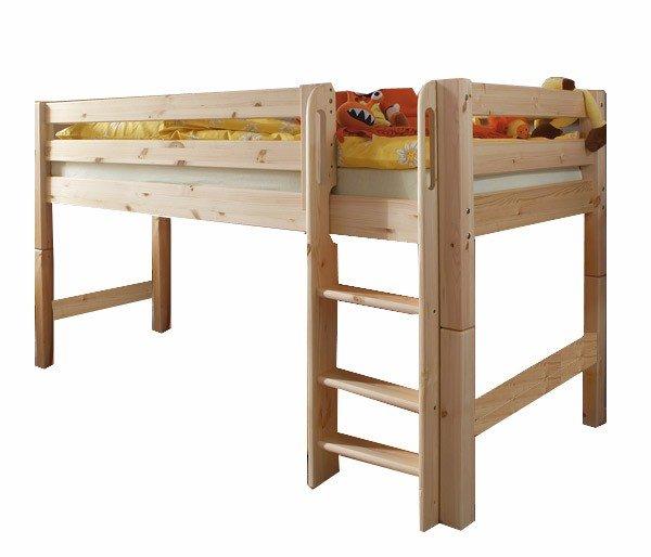 Infans halbhohes Spielbett mit gerader Leiter