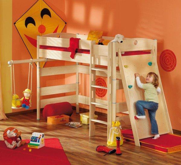 Paidi Fleximo 155-iger Spielbett mit Kletterwand und Schaukel
