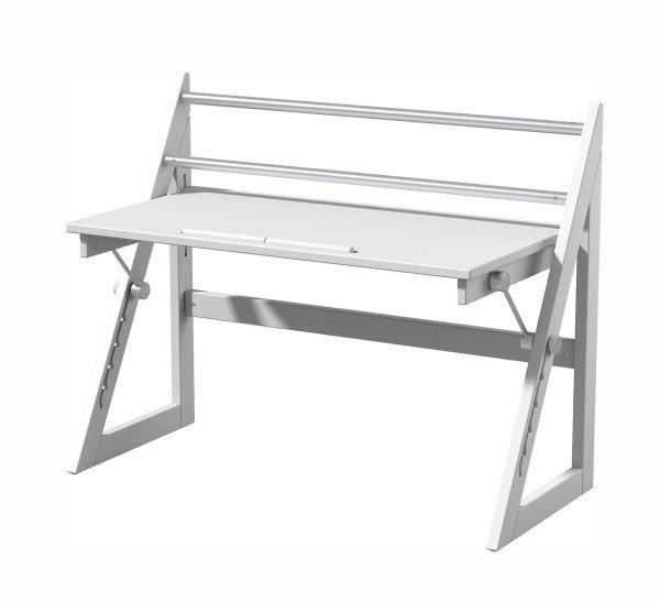Anderson Schreibtisch weiß lackiert in Standardausführung ohne Schublade.