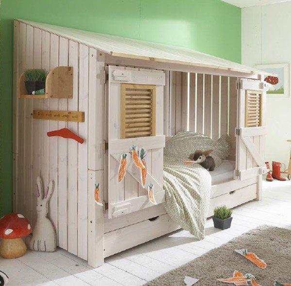 Infans Strandhausbett (bestehend aus einer normalen Liege und einem Aufsatz