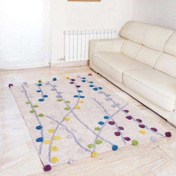 Teppich Primavera 140 x 200 cm (mit Baumwollkugeln)