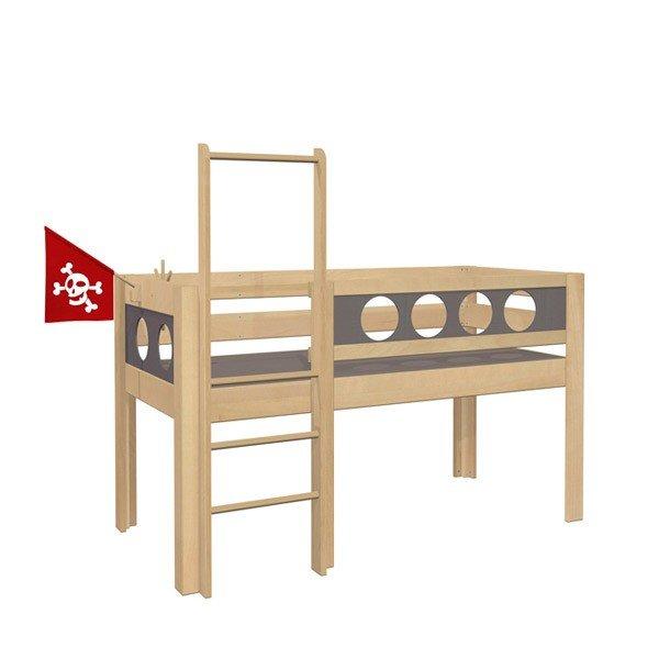 De Breuyn Piraten-Spielbett in der halbhohen Version