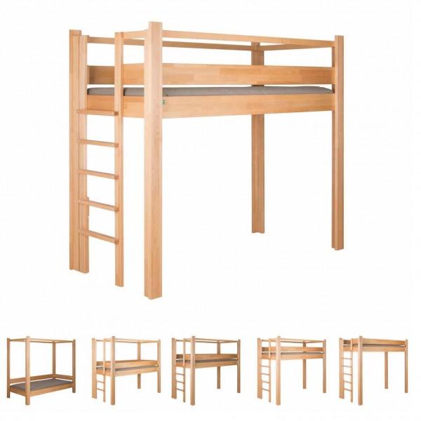 Das destyle Basisbett 100 S kannst Du in 5 Varianten aufbauen.
