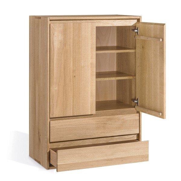 Dormiente Kommode mit 2 Türen und 2 Schubläden, in diversen Holzarten bestellbar