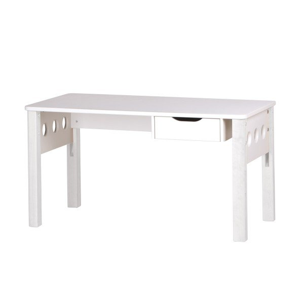 Study White Schreibtisch mit Schublade, weiß (B 122 cm)