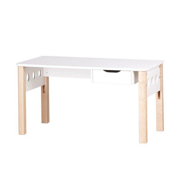 Study White Schreibtisch mit Schublade, Birke natur/ weiß (B 122 cm)