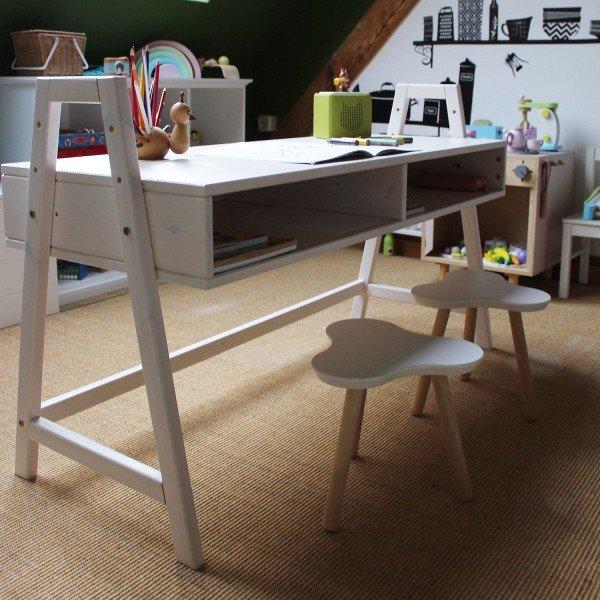 Schreibtisch 814 in weiß, höhenverstellbar