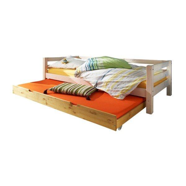 Beispiel mit Farbmix, Liege in weiß und Gästebett in gelaugt