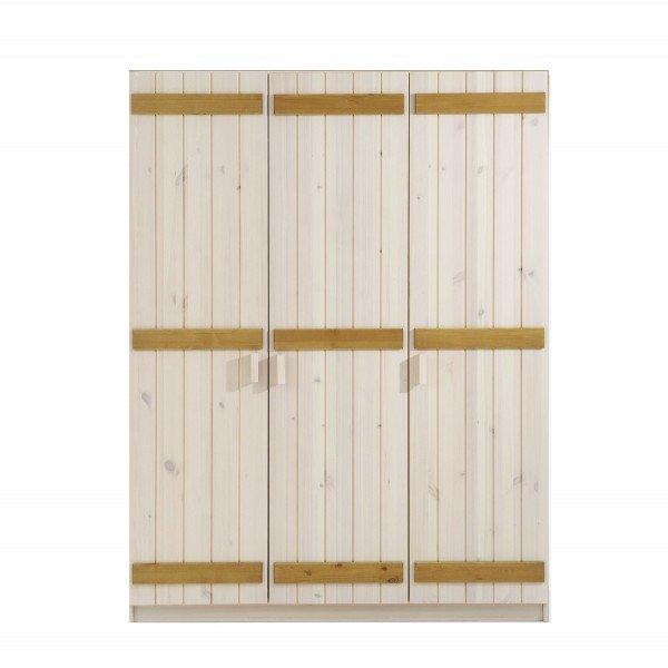 Infans Kleiderschrank 804 mit 3 Türen, weiß/gelaugt