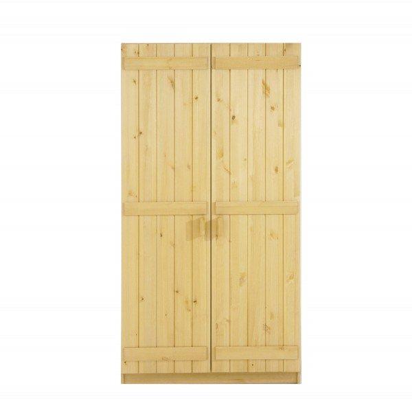 Infans Kleiderschrank 800 mit 2 Türen aus massiver Kiefer in natur