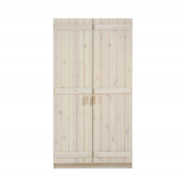 Infans Kleiderschrank 800 mit 2 Türen aus massiver Kiefer, weiß